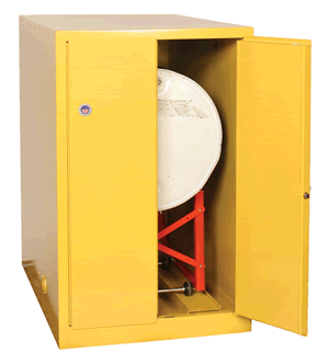 Horizontal Safe Drum Storage