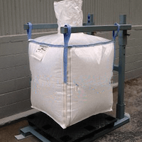 drainable bulk bags in use